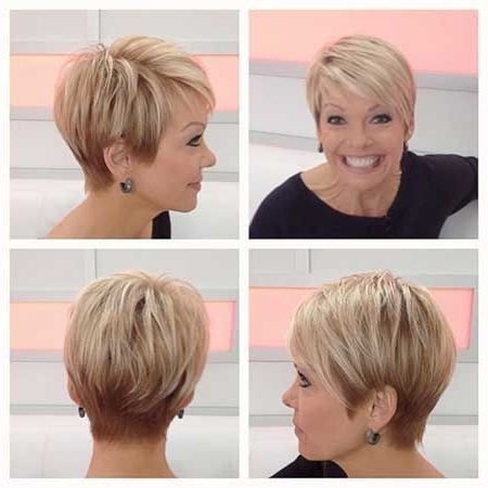 25 Easy Short Hairstyles For Older Women – Popular Haircuts Inside Chic Blonde Pixie Bob Hairstyles For Women Over (View 11 of 25)