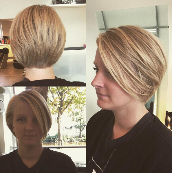 25 Stylish Bob Hairstyles With Bangs –Style & Colour In Perfect With Regard To Stacked Bob Hairstyles With Bangs (View 15 of 25)