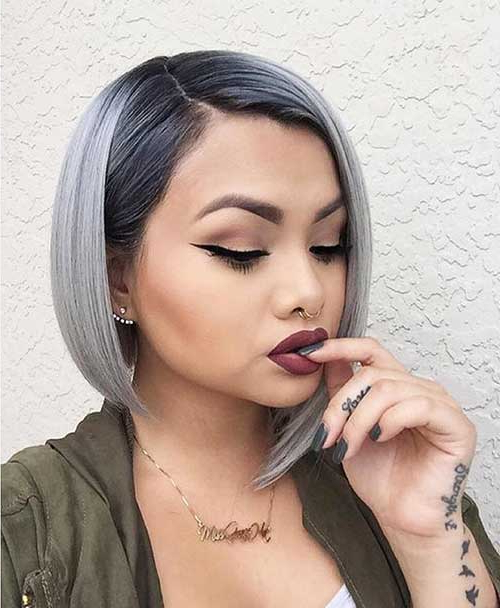 25+ Super Short Gray Hair Ideas   Short Hairstyles & Haircuts 2018 Regarding Sleek Gray Bob Hairstyles (View 25 of 25)