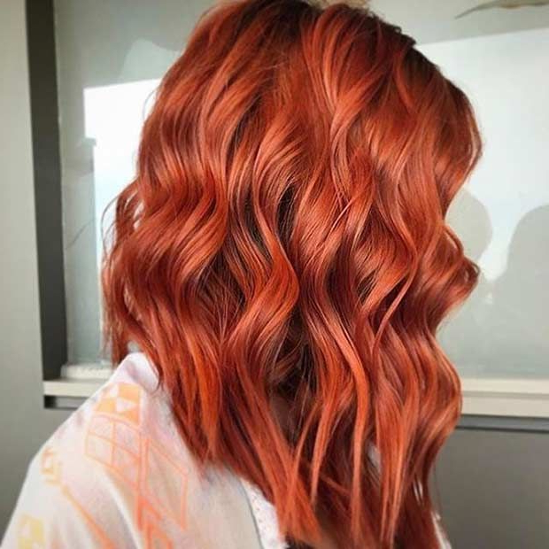 25 Collection Of Burnt Orange Bob Hairstyles With Highlights