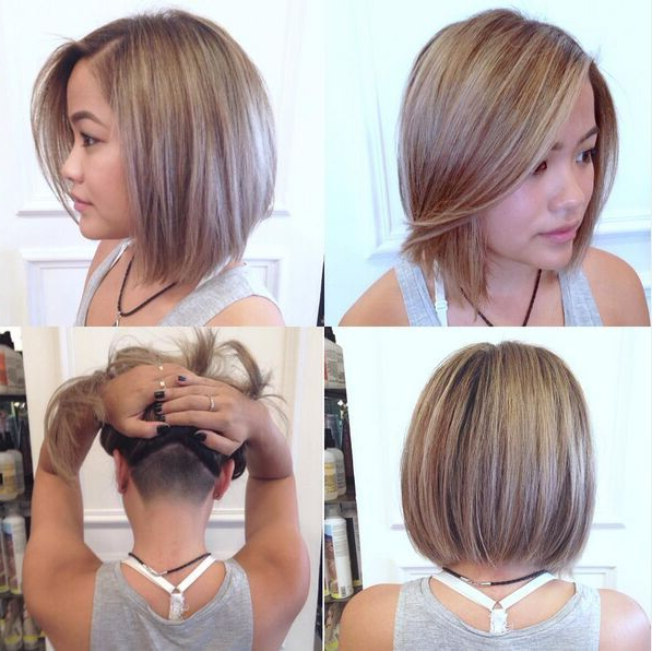 27 Stylish Fancy Undercut Hairstyle! Check Out Chic & Glam Undercut Regarding Angled Undercut Hairstyles (View 2 of 25)