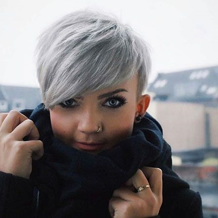 30+ Best Pixie Cut 2016 – 2017 | Hair!! | Pinterest | Short Hair Intended For Cropped Gray Pixie Hairstyles With Swoopy Bangs (View 9 of 25)