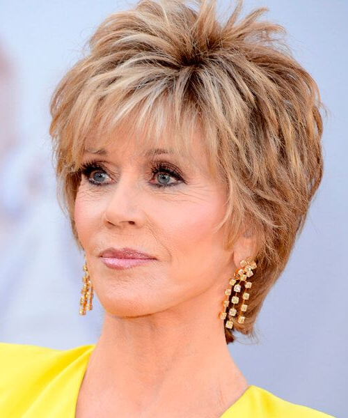 30 Most Stylish And Charming Jane Fonda Hairstyles – Haircuts In Short Wispy Hairstyles For Fine Locks (View 20 of 25)