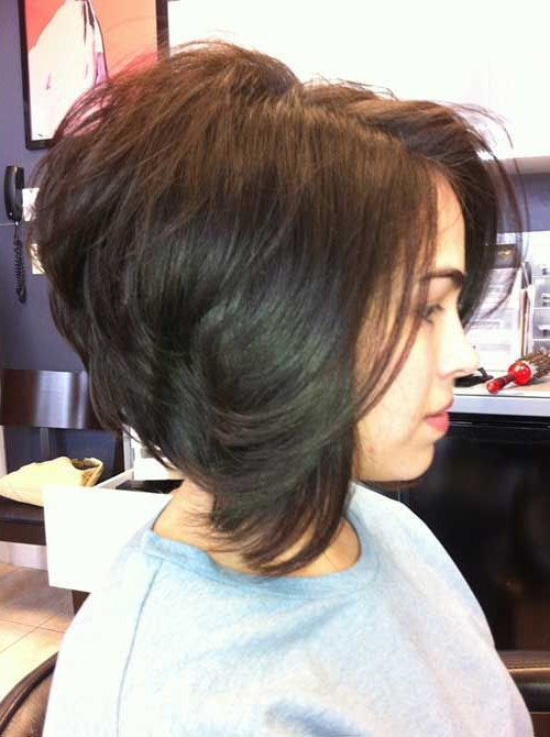 30 Stacked Bob Haircuts For Sophisticated Short Haired Women Within Rounded Bob Hairstyles With Stacked Nape (View 9 of 25)