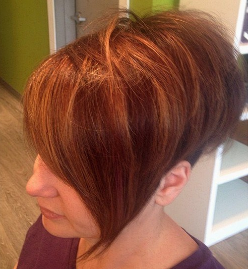 30 Stunning Balayage Short Hairstyles 2019 – Hot Hair Color Ideas With Burnt Orange Bob Hairstyles With Highlights (View 8 of 25)