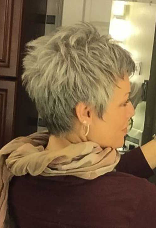 30 Superb Short Hairstyles For Women Over 40 | Hair Styles Within Messy Salt And Pepper Pixie Hairstyles (View 10 of 25)