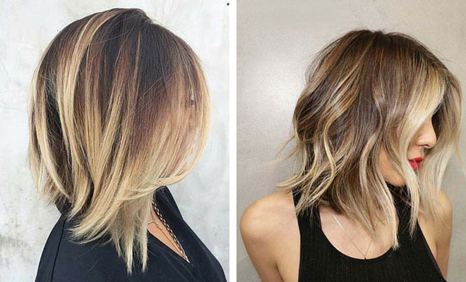 31 Best Shoulder Length Bob Hairstyles | Stayglam Inside One Length Balayage Bob Hairstyles With Bangs (View 6 of 25)