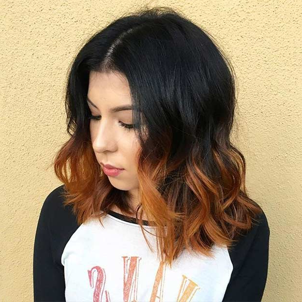 31 Best Shoulder Length Bob Hairstyles | Stayglam With Burnt Orange Bob Hairstyles With Highlights (View 14 of 25)