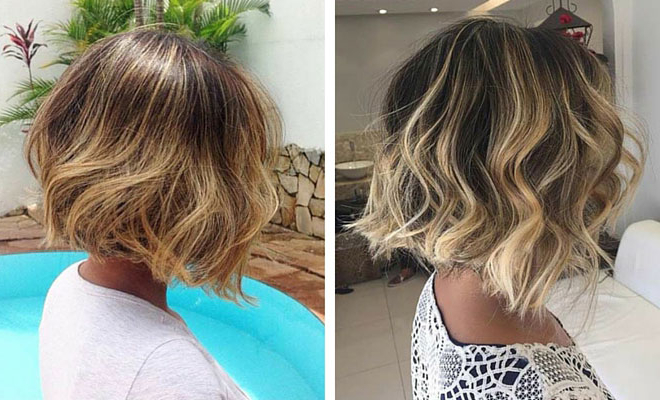 31 Cool Balayage Ideas For Short Hair | Stayglam Intended For One Length Balayage Bob Hairstyles With Bangs (View 4 of 25)