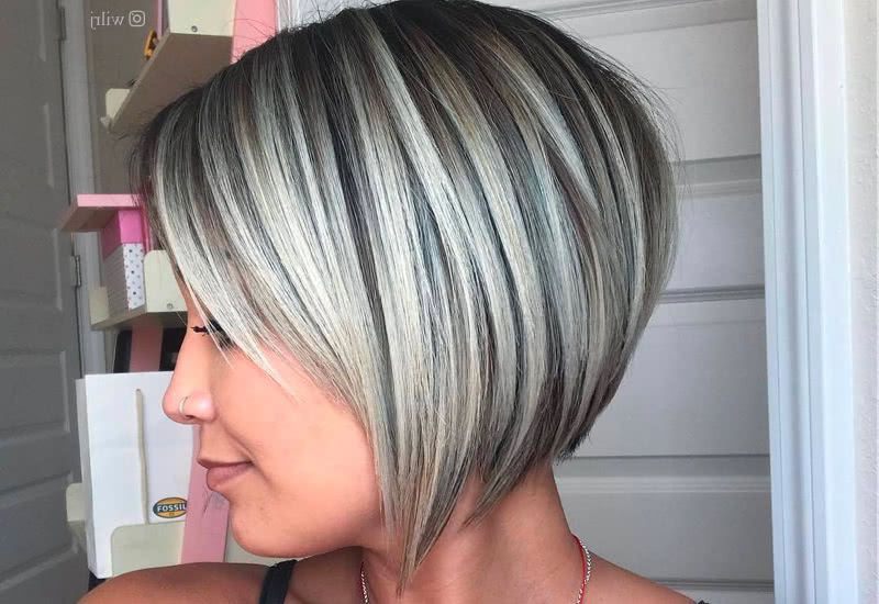 32 Layered Bob Hairstyles So Hot We Want To Try All Of Them Throughout Sleek Gray Bob Hairstyles (View 7 of 25)