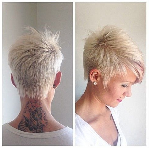 32 Stylish Pixie Haircuts For Short Hair | Pixie Cuts | Pinterest Pertaining To Long Curly Salt And Pepper Pixie Hairstyles (View 7 of 25)