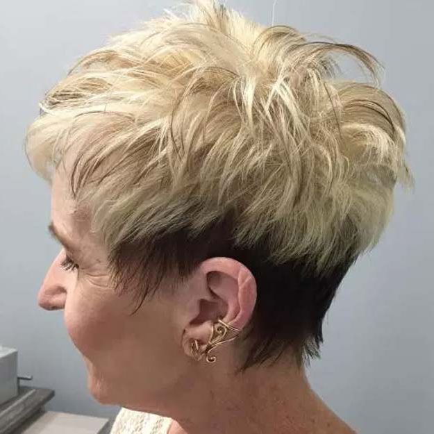 33 Best Hairstyles For Your 60S – The Goddess Within Two Tone Spiky Short Haircuts (View 12 of 25)