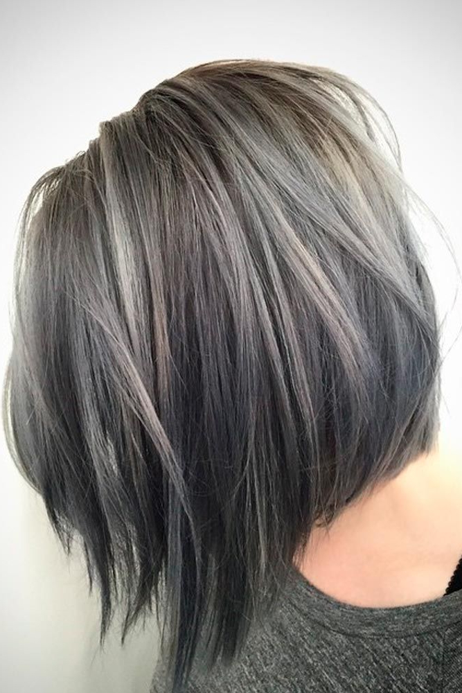 33 Short Grey Hair Cuts And Styles | Hair | Pinterest | Hair, Hair Inside Layered Tousled Salt And Pepper Bob Hairstyles (View 8 of 25)