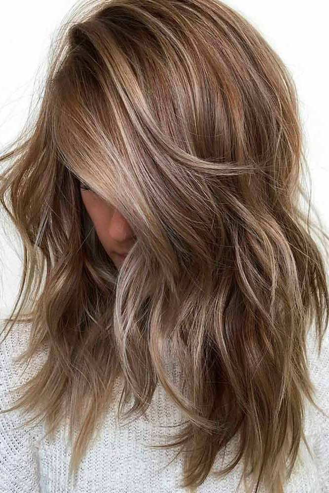 36 Chic Medium Length Layered Haircuts For A Trendy Look | Pretty Within Chic Chocolate Layers Hairstyles (View 2 of 25)
