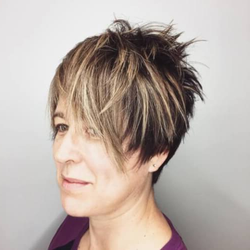 39 Youthful Short Hairstyles For Women Over 50 (With Fine & Thick Hair) Regarding Chic Blonde Pixie Bob Hairstyles For Women Over (View 5 of 25)