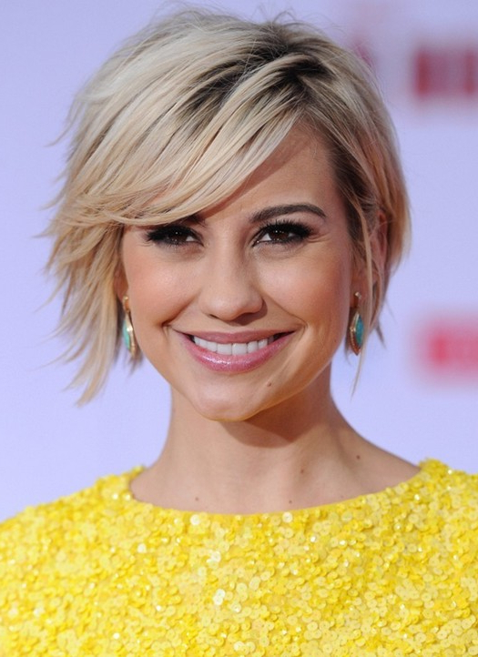 40+ Chic Short Haircuts: Popular Short Hairstyles For 2019 – Pretty For Choppy Blonde Pixie Hairstyles With Long Side Bangs (View 11 of 25)