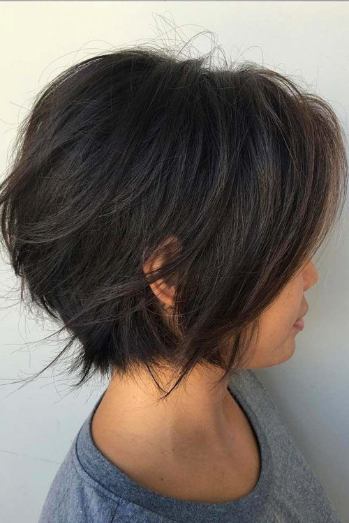 40 Cute Short Haircuts For Short Hair (Updated For 2018) With Regard To Gray Bob Hairstyles With Delicate Layers (View 17 of 25)