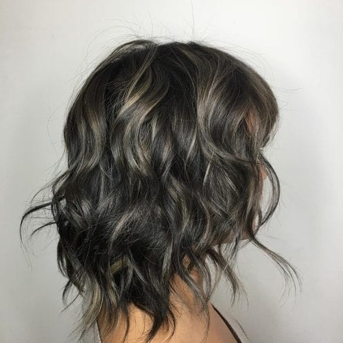 41 Incredible Dark Brown Hair With Highlights (Trending For 2018) Inside Gray Hairstyles With High Layers (View 23 of 25)
