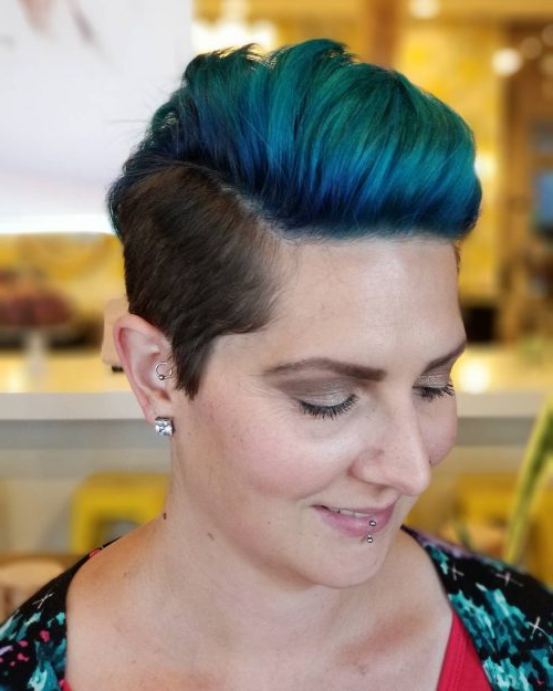42 Sexiest Short Hairstyles For Women Over 40 In 2018 With Regard To Pixie Undercut Hairstyles For Women Over (View 16 of 25)