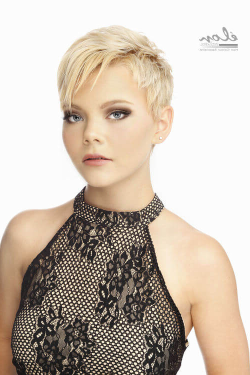 43 Perfect Short Hairstyles For Fine Hair In 2018 Pertaining To Long Ash Blonde Pixie Hairstyles For Fine Hair (View 12 of 25)