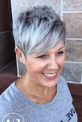 44 Stylish Short Hairstyles For Women Over 50   Lovehairstyles Throughout Dark Brown Hairstyles For Women Over  (View 18 of 25)