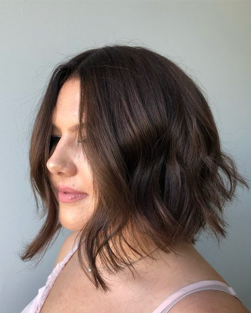 45 Chic Choppy Bob Hairstyles For 2018 With Regard To Chic Chocolate Layers Hairstyles (View 19 of 25)