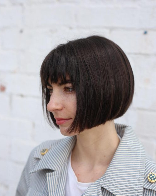 46 Bob With Bangs Hairstyle Ideas Trending For 2018 For Straight Bob Hairstyles With Bangs (View 7 of 25)