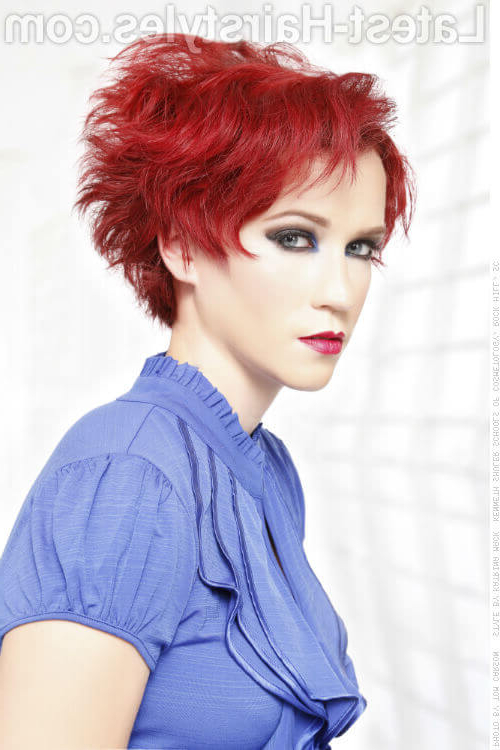47 Popular Short Choppy Hairstyles For 2018 In Black Choppy Pixie Hairstyles With Red Bangs (View 20 of 25)