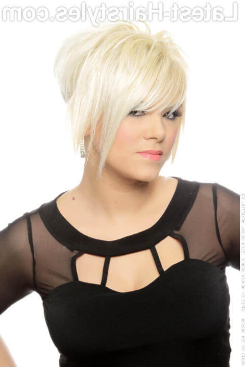 47 Popular Short Choppy Hairstyles For 2018 Within Choppy Blonde Pixie Hairstyles With Long Side Bangs (View 12 of 25)