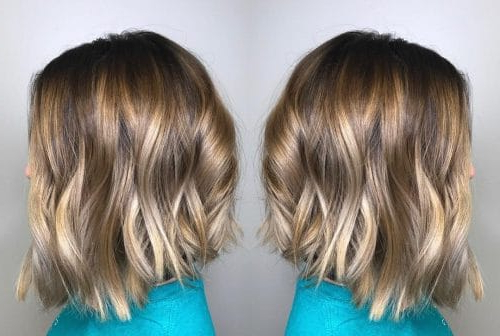 49 Chic Short Bob Hairstyles & Haircuts For Women In 2018 In One Length Balayage Bob Hairstyles With Bangs (View 5 of 25)