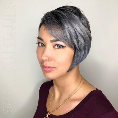 49 Chic Short Bob Hairstyles & Haircuts For Women In 2018 Pertaining To Wispy Silver Bob Hairstyles (View 17 of 25)