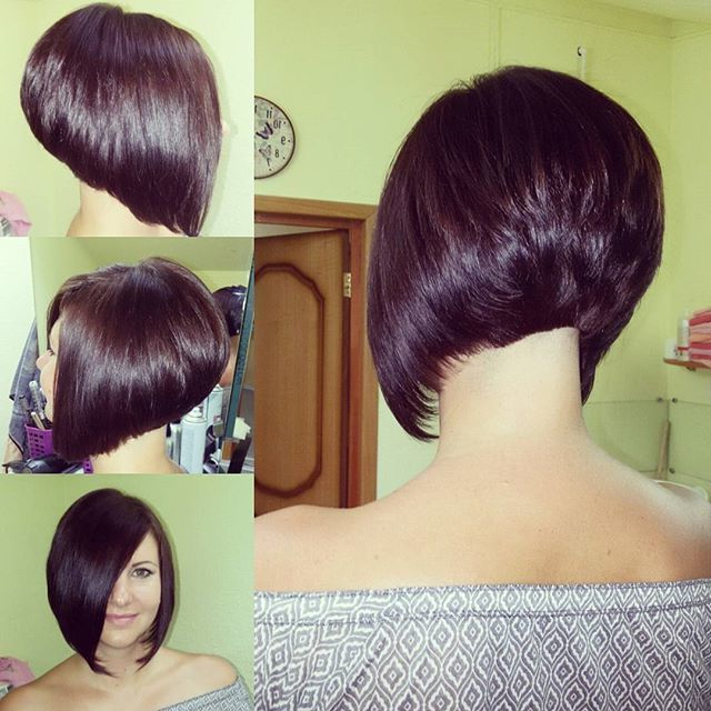 50 Best Inverted Bob Hairstyles 2018 – Inverted Bob Haircuts Ideas With Regard To Rounded Bob Hairstyles With Stacked Nape (View 14 of 25)