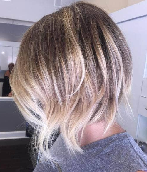 50 Fresh Short Blonde Hair Ideas To Update Your Style In 2018 For Blonde Balayage Bob Hairstyles With Angled Layers (View 12 of 25)