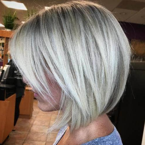 50 Fresh Short Blonde Hair Ideas To Update Your Style In 2018 With Regard To Blonde Balayage Bob Hairstyles With Angled Layers (View 9 of 25)