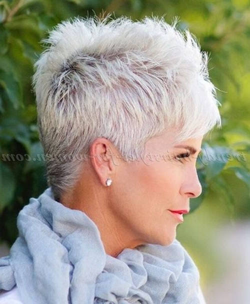 50 Hairstyles For Short Hair Women's | Hair | Pinterest | Short Hair Pertaining To Gray Pixie Hairstyles For Thick Hair (View 4 of 25)