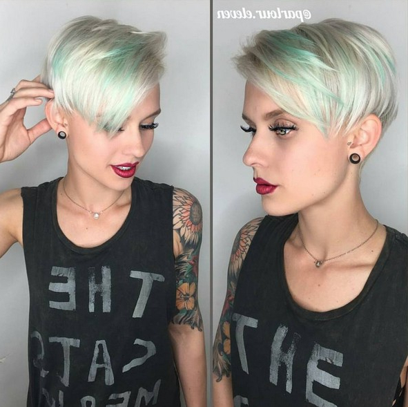 50 Hottest Balayage Hairstyles For Short Hair – Balayage Hair Color Throughout Silver Pixie Hairstyles For Fine Hair (View 10 of 25)