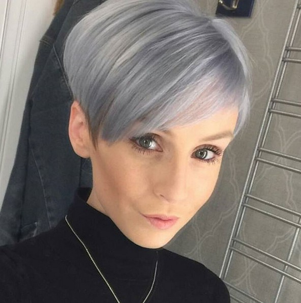 50 Hottest Balayage Hairstyles For Short Hair – Balayage Hair Color With Silver Pixie Hairstyles For Fine Hair (View 11 of 25)