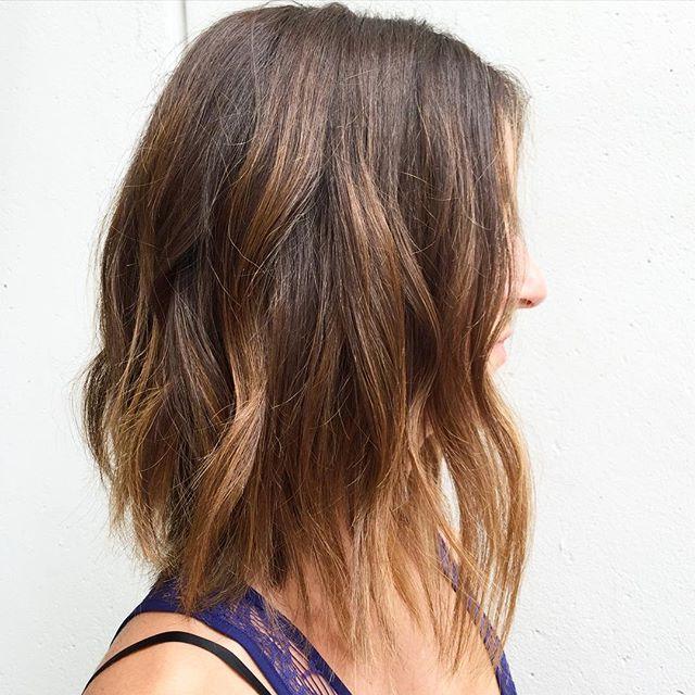 50 Hottest Bob Haircuts & Hairstyles For 2019 – Bob Hair Regarding One Length Balayage Bob Hairstyles With Bangs (View 9 of 25)