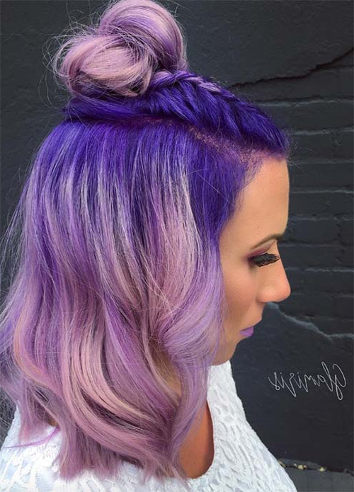 50 Lovely Purple & Lavender Hair Colors – Purple Hair Dyeing Tips In Lavender Hairstyles For Women Over (View 16 of 25)