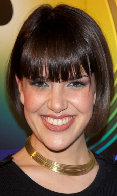 50 Most Popular Bob Shaped Hairstyles Within Straight Bob Hairstyles With Bangs (View 22 of 25)
