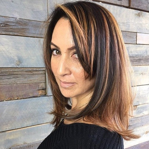 50 Most Prominent Hairstyles For Women Over 40 – Page 6 – Foliver Blog Within Dark Brown Hairstyles For Women Over  (View 17 of 25)