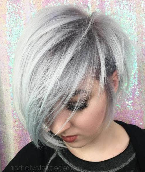 50 Pixie Haircuts You'll See Trending In 2018 For Cropped Gray Pixie Hairstyles With Swoopy Bangs (View 23 of 25)