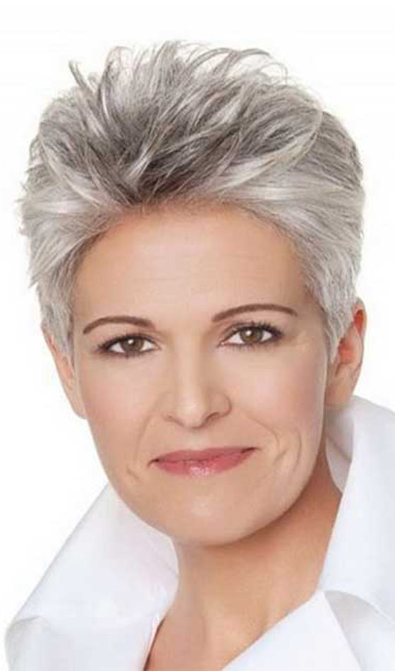 50 Short And Stylish Hairstyles For Women Over 50 With Messy Salt And Pepper Pixie Hairstyles (View 20 of 25)