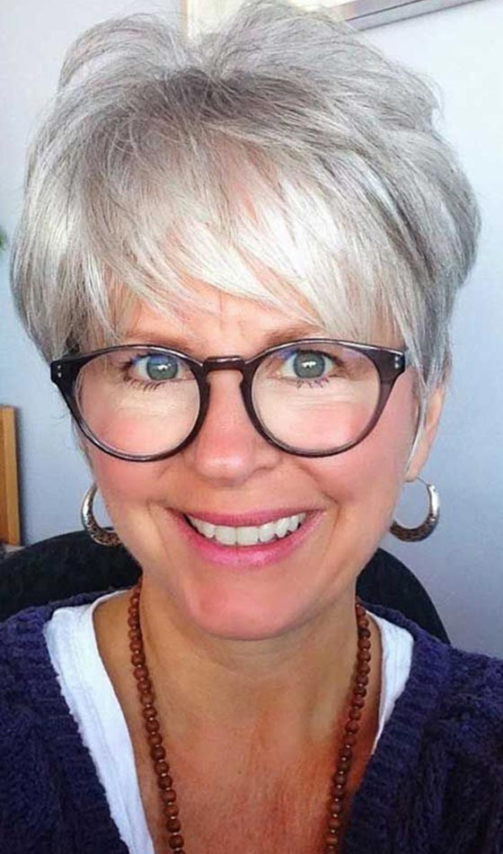 50 Short And Stylish Hairstyles For Women Over 50 Within Messy Salt And Pepper Pixie Hairstyles (View 16 of 25)
