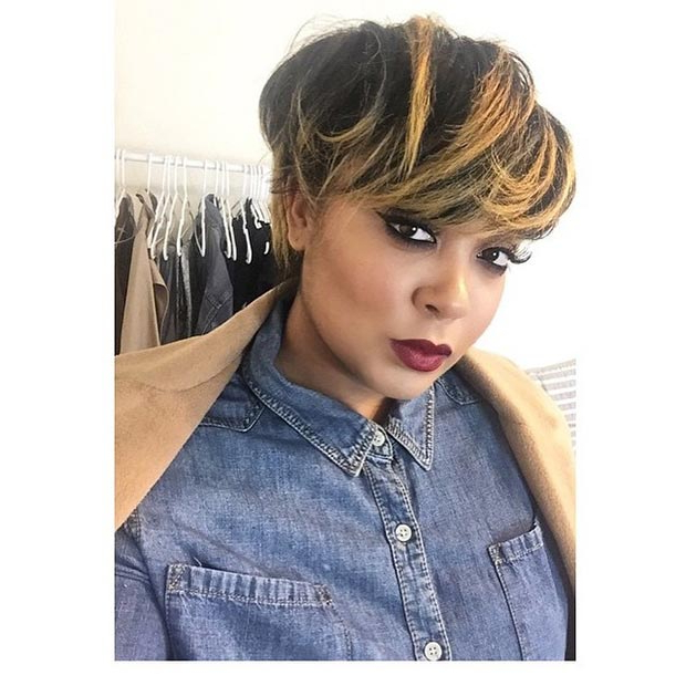 50 Short Hairstyles For Black Women | Stayglam In Long Ash Blonde Pixie Hairstyles For Fine Hair (View 23 of 25)