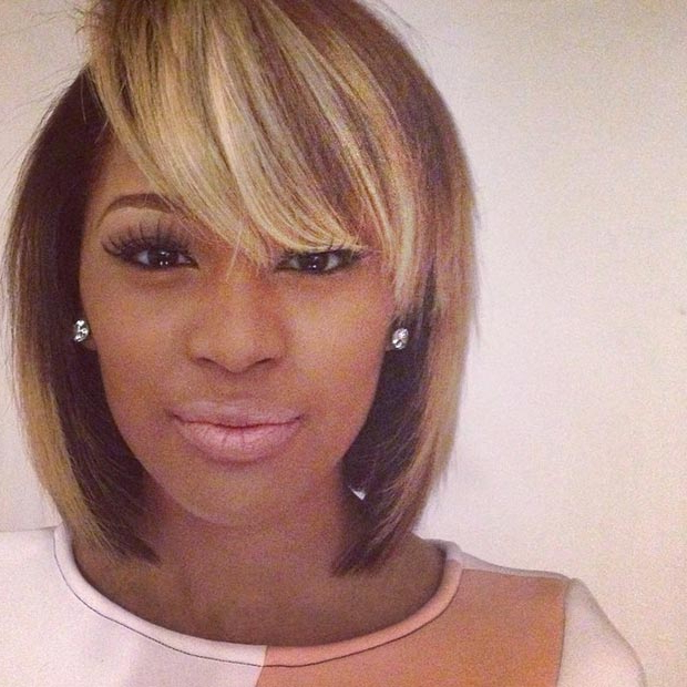 50 Short Hairstyles For Black Women | Stayglam Within Honey Blonde Layered Bob Hairstyles With Short Back (View 21 of 25)