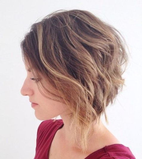 50 Trendy Inverted Bob Haircuts In 2018 | Goldilocks | Pinterest In Short Wavy Inverted Bob Hairstyles (View 13 of 25)