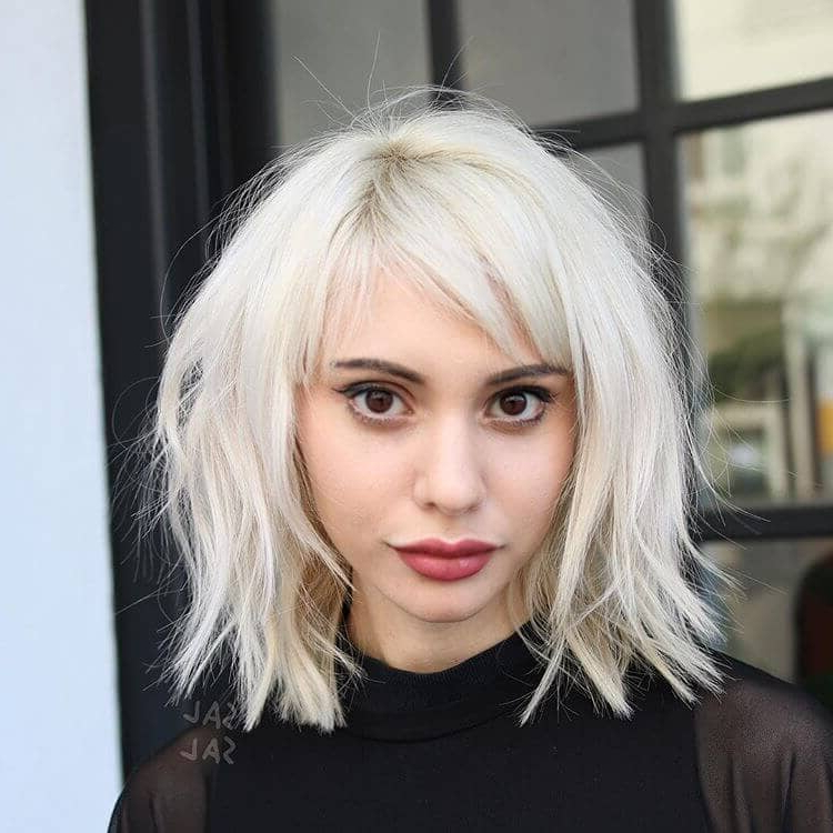 50 Ways To Wear Short Hair With Bangs For A Fresh New Look In Choppy Blonde Pixie Hairstyles With Long Side Bangs (View 14 of 25)