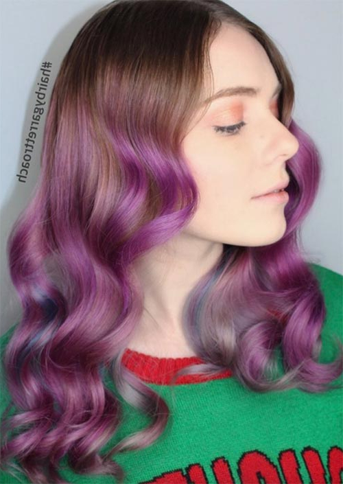 51 Medium Hairstyles & Shoulder Length Haircuts For Women In 2019 Intended For Purple Haze Hairstyles (View 14 of 25)