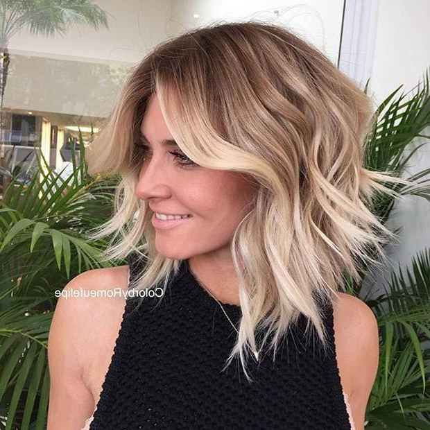 51 Trendy Bob Haircuts To Inspire Your Next Cut | Coiffures Intended For Blonde Balayage Bob Hairstyles With Angled Layers (View 16 of 25)